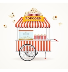 Pop Corn Street Vendor Mobile Store vector