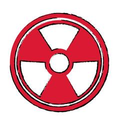 Radiation caution hazard nuclear symbol vector