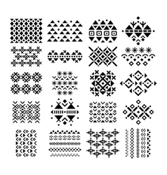 Retro ornament and embroidery set vector