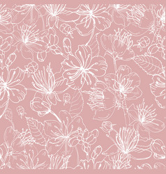 romantic natural seamless pattern with beautiful vector image