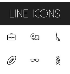 Set of 6 editable teach outline icons includes vector
