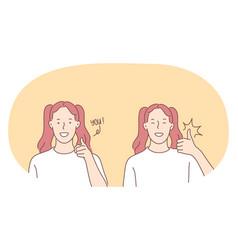 sign language gestures hands communication vector image