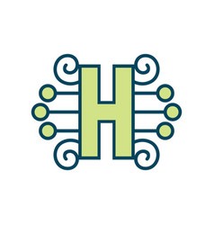 sign of the letter h vector image