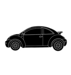 Sketch of modern car technical draw vector