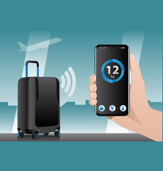 Smart baggage with wireless control vector