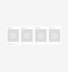 social network post mockup template carousel vector image