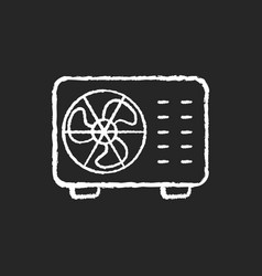 Split air conditioner chalk white icon on black vector