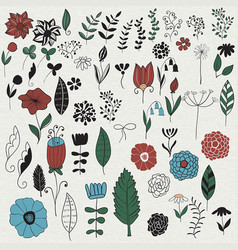 Spring floral design elements vector