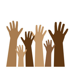 Stop racism and different skin color vector