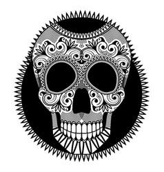 sugar skull symbol day dead dia de vector image