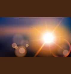 Sunlight special effect lens flare blurred vector