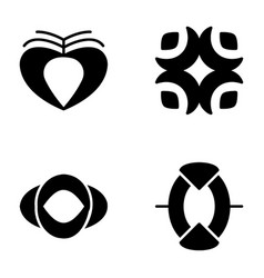 Symbols and signs glyph icons vector