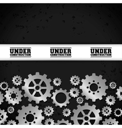 Under construction and gears design vector
