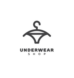 underwear shop logo vector image