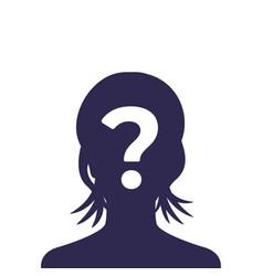 Unknown person female vector