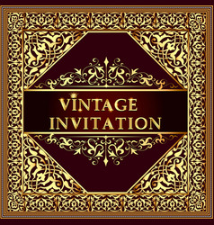 vintage background elegant antiques victorian vector image