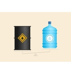 Water and oil on scales vector