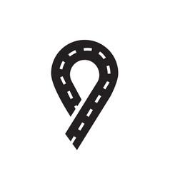 way abstract design logo vector image