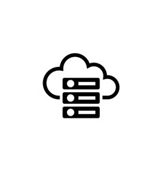 web cloud computing server hosting database flat vector image