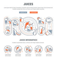 Website banner and landing page juices vector