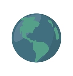 world planet earth isolated icon vector image vector image
