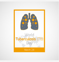 World tuberculosis day icon vector