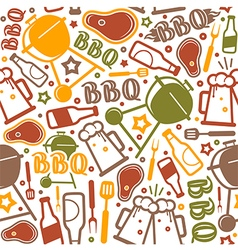 Barbecue seamless pattern vector image vector image