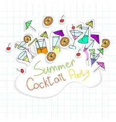 Cocktail Party card vector image vector image