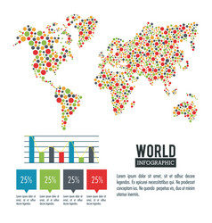 earth world infographic vector image vector image