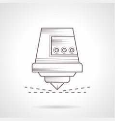 industrial laser cutter vintage icon vector image