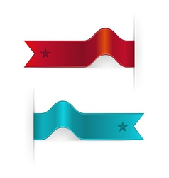 Ribbon Bookmarks vector image vector image
