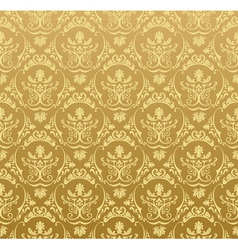 Seamless wallpaper background floral vintage gold vector