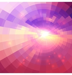 Abstract pink circle technology background vector