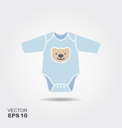 baby boy bodysuit flat icon vector image vector image