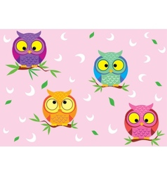 background owl vector image vector image