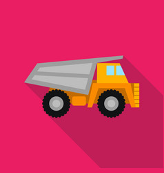 haul truck icon in flat style isolated on white vector image vector image
