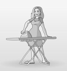 monochrome housewife vector image vector image