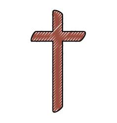 religious cross wooden icon vector image vector image