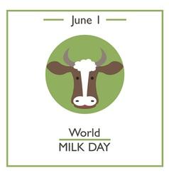 World Milk Day vector image vector image