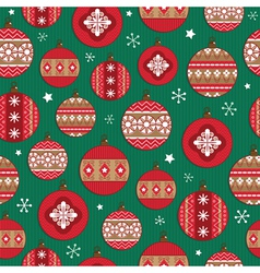 christmas bauble pattern vector image vector image
