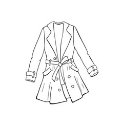 coat outline icon vector image