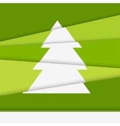 Creative Christmas tree card Asymmetric Christmas vector image vector image