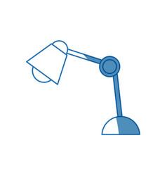 desk lamp bulb light electric equipment vector image vector image