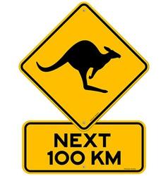 kangaroos next 100 km vector image