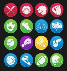 sport icon gradient style vector image vector image