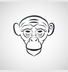 ape logo icon design vector image
