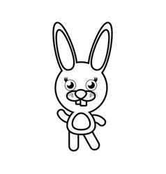cartoon bunny animal outline vector image