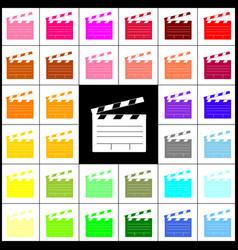 film clap board cinema sign felt-pen 33 vector image vector image