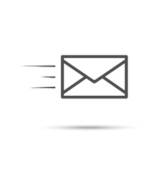 Receive mail icon vector image