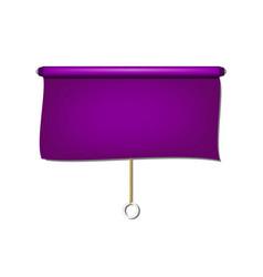 Vintage window sun blind cloth in purple design vector